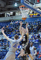 December 12, 2015 - Colorado Springs, Colorado, U.S. -  Army forward, Larry Toomey #33, reaches for a rebound during an NCAA basketball game between the Army West Point Black Knights and the Air Force Academy Falcons at Clune Arena, U.S. Air Force Academy, Colorado Springs, Colorado.  Army West Point defeats Air Force 90-80.