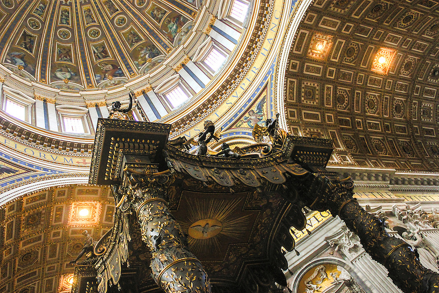 Beautiful interior and exterior of  St-Peters and around The Vatican.