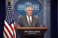 NOV 20 Tillerson Speaks to Reporters at the White House