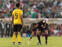 Pasadena, CA - Thursday June 09, 2016: Referee during a Copa America Centenario Group C match between Mexico (MEX) and Jamaica (JAM) at Rose Bowl Stadium.