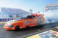 Feb. 17 2012; Chandler, AZ, USA; NHRA funny car driver Todd Lesenko during qualifying for the Arizona Nationals at Firebird International Raceway. Mandatory Credit: Mark J. Rebilas-