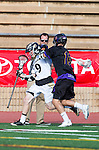 San Diego, CA 05/25/13 - Carrigan Henkel (Westview #9) and Jack Beetham (Carlsbad #13) in action during the 2013 Boys Lacrosse San Diego CIF DIvision 1 Championship game.  Westview defeated Carlsbad 8-3.