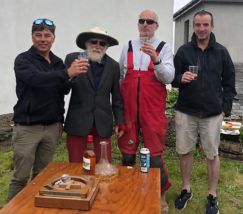 A very special birthday party in Glandore – at 90, Don Street (second left) enjoys his post-race parties as much as ever.