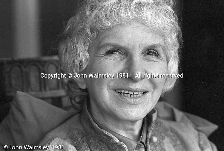 Leila Berg, author, 1981.