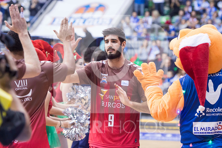San Pablo Burgos Alex Barrera during Liga Endesa match between San Pablo Burgos and Gipuzkoa Basket at Coliseum Burgos in Burgos, Spain. December 30, 2017. (ALTERPHOTOS/Borja B.Hojas)