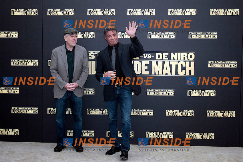 Robert De Niro e Sylvester Stallone<br /> Roma 07-01-2014 Hassler Hotel. Il Grande Match - Grudge Match - Photocall<br /> Photo Samantha Zucchi Insidefoto
