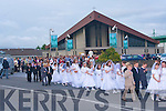 9629-9631.---------.Parade..-------.A large crowd attended the St Brendan's Corpus Christi procession last Saturday evening,which proceeded down Rock St and turned right into Connolly Pk.