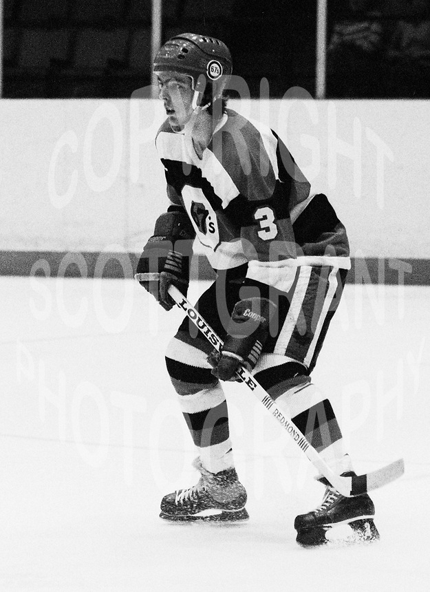 Doug Crossman Ottawa 67's 1979. Photo Scott Grant