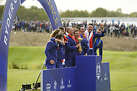 The European Team winners after the singles matches at the Ryder Cup, Le Golf National, Ile-de-France, France. 30/09/2018.<br /> Picture Fran Caffrey / Golffile.ie<br /> <br /> All photo usage must carry mandatory copyright credit (&copy; Golffile | Fran Caffrey)