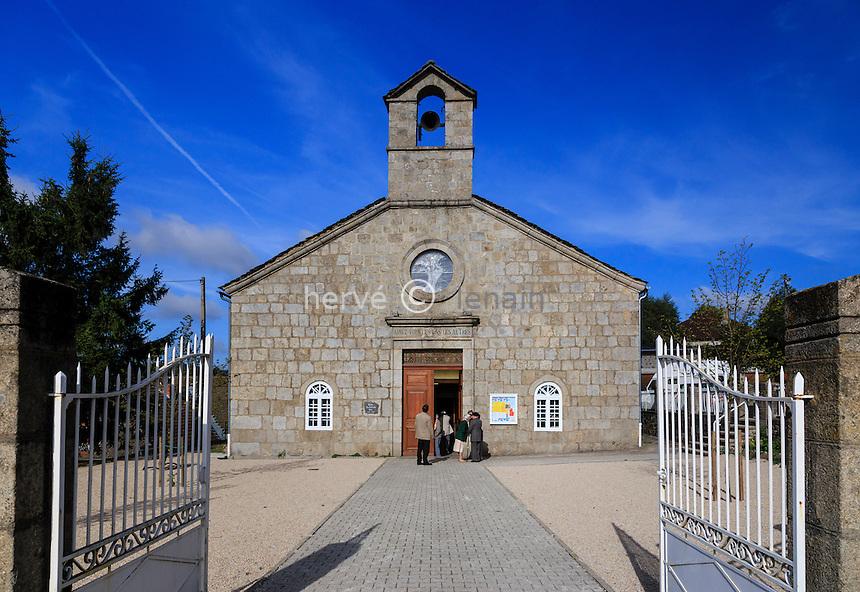 France, Haute-Loire (43), Le Chambon-sur-Lignon, le Temple protestant, culte du dimanche matin // France, Haute Loire, Le Chambon sur Lignon, Protestant Temple, Sunday morning worship