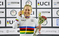 Picture by Simon Wilkinson/SWpix.com - 03/03/2017 - Cycling 2017 UCI Para-Cycling Track World Championships, Velosports Centre, Los Angeles USA - Jennifer Schuble
