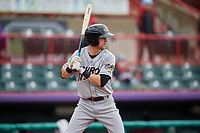 Akron RubberDucks Ernie Clement (6) at bat during an Eastern League game against the Erie SeaWolves on June 2, 2019 at UPMC Park in Erie, Pennsylvania.  Akron defeated Erie 7-2 in the first game of a doubleheader.  (Mike Janes/Four Seam Images)