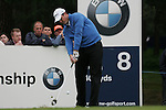 Marcus Fraser takes  his drive on the 8th hole during the 3rd round of the BMW PGA Championship at Wentworth Club, Surrey, England 26th may 2007 (Photo by Eoin Clarke/NEWSFILE)