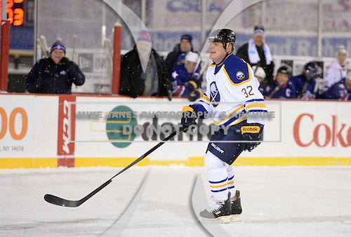 Rob Ray (32) during The Frozen Frontier Buffalo Sabres vs. Rochester Amerks Alumni Game at Frontier Field on December 15, 2013 in Rochester, New York.  (Copyright Mike Janes Photography)