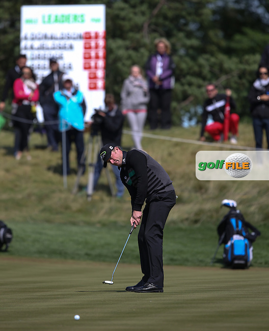 Jamie Donaldson (WAL) putts for birdie on the 5th during the Final Round of the D&D Real Czech Masters 2014 from the Albatross Golf Resort, Vysoky Ujezd, Prague. Picture:  David Lloyd / www.golffile.ie