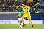 José Ángel Valdés Díaz (r) of Villarreal CF fights for the ball with Zarko Grbovic of CD Toledo during their Copa del Rey 2016-17 match between Villarreal CF and CD Toledo at the Estadio El Madrigal on 20 December 2016 in Villarreal, Spain. Photo by Maria Jose Segovia Carmona / Power Sport Images