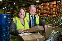 UNP 26145 / Beetroot Publishing Ltd??Parcelforce employee magazine, CPG Logistics, Gosport??Photo: Suzanne Rosenbrier, Customer Services Director at.CPG and Matt Johnson from Parcelforce.??CPG is one of Parcelforce's biggest clients and they (CPG) have just.done a survey of their customers in which Parcelforce got very high.marks for their service..??Date Taken: 08/11/10??Location:?CPG Logistics?Unit 900?Fareham Reach?Gosport, Hants?PO13 0FW??Contact:?Suzanne Rosenbrier 01329 425633??Commissioned by:  UNP?Mandy Taylor?UNP Ltd.24 Victoria Road,.Saltaire,.BD18 3JR.England, UK.P 01274 412222.F 01274 590999.iSDN 01274 420446.email: mandy@unp.co.uk