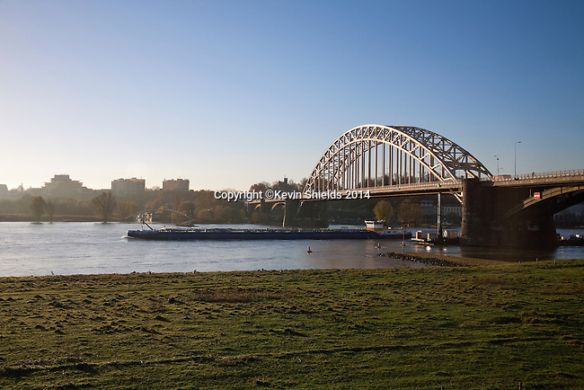 This bridge over the Waal River at Nijmegen, The Netherlands, was the scene of fighting during Operation Market Garden towards the end of the Second World War.