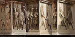 Arch of Septimius Severus 203 AD Detail Pedestal Reliefs Capitoline Side Composite Image Forum Romanum Rome