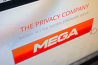 The Mega website founded by the controversial Kim Dotcom is seen on Monday, January 21, 2013. Dotcom, who formerly ran the file sharing site Megaupload, is awaiting extradition in New Zealand to the United States for allegedly running a site rampant with music and video piracy. The new site is basically a cloud storage site with military encryption where the site owner has no knowledge of what is being stored.  (© Richard B. Levine)