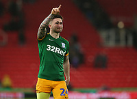 Preston North End's Sean Maguire applauds the fans at the final whistle <br /> <br /> Photographer Stephen White/CameraSport<br /> <br /> The EFL Sky Bet Championship - Stoke City v Preston North End - Saturday 26th January 2019 - bet365 Stadium - Stoke-on-Trent<br /> <br /> World Copyright © 2019 CameraSport. All rights reserved. 43 Linden Ave. Countesthorpe. Leicester. England. LE8 5PG - Tel: +44 (0) 116 277 4147 - admin@camerasport.com - www.camerasport.com