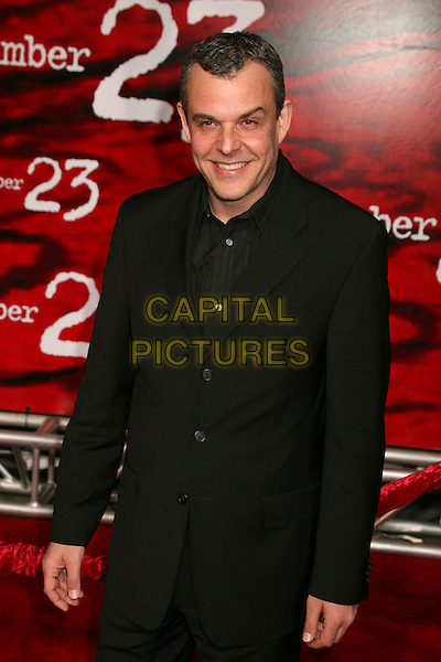 "DANNY HUSTON.""The Number 23"" Los Angeles Premiere at the Orpheum Theater, Los Angeles, California, USA..February 13th, 2007.half length black suit jacket.CAP/ADM/BP.©Byron Purvis/AdMedia/Capital Pictures"