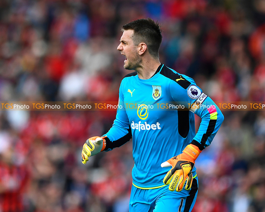 Thomas Heaton of Burnley during AFC Bournemouth vs Burnley, Premier League Football at the Vitality Stadium on 13th May 2017