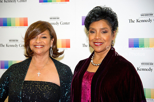 Actress Debbie Allen and her sister, Phylicia Rashad arrive for the formal Artist's Dinner honoring the recipients of the 39th Annual Kennedy Center Honors hosted by United States Secretary of State John F. Kerry at the U.S. Department of State in Washington, D.C. on Saturday, December 3, 2016. The 2016 honorees are: Argentine pianist Martha Argerich; rock band the Eagles; screen and stage actor Al Pacino; gospel and blues singer Mavis Staples; and musician James Taylor.<br /> Credit: Ron Sachs / Pool via CNP