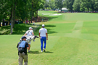 Brooks Koepka (USA) departs the 11th tee during Sunday's final round of the PGA Championship at the Quail Hollow Club in Charlotte, North Carolina. 8/13/2017.<br /> Picture: Golffile | Ken Murray<br /> <br /> <br /> All photo usage must carry mandatory copyright credit (&copy; Golffile | Ken Murray)
