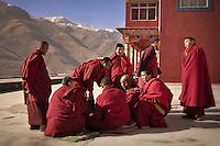 Monks debating at Domkar monastery....Brian Hirschy Photograph :  Lights//Camera//Joy.www.brianhirschy.com ( http://www.brianhirschy.com )