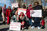 NEW YORK, NEW YORK - MARCH 8: Different groups of women attend the protest during the women's strike in Washington Sq Park for Women's Day on March 8, 2020. in New York. 3,500 women were killed for gender reasons in 25 countries in Latin America and the Caribbean in 2019. UN said. (Photo by Pablo Monsalve / VIEWpress via Getty Images)
