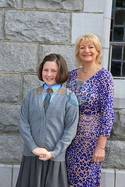 Alice Morgan and Sponsor Rosemarie Howell at confirmation in Duleek..Picture:  www.newsfile.ie ..
