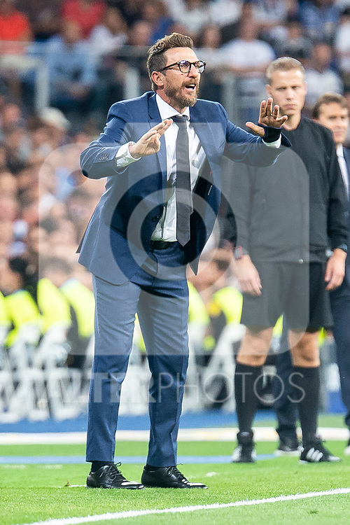 A.S. Roma coach Eusebio Di Francesco during UEFA Champions League match between Real Madrid and A.S.Roma at Santiago Bernabeu Stadium in Madrid, Spain. September 19, 2018. (ALTERPHOTOS/Borja B.Hojas)