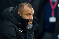Wolverhampton Wanderers manager Nuno Espirito Santo ahead of the Sky Bet Championship match between Cardiff City and Wolverhampton Wanderers at the Cardiff City Stadium, Cardiff, Wales on 6 April 2018. Photo by Mark  Hawkins / PRiME Media Images.