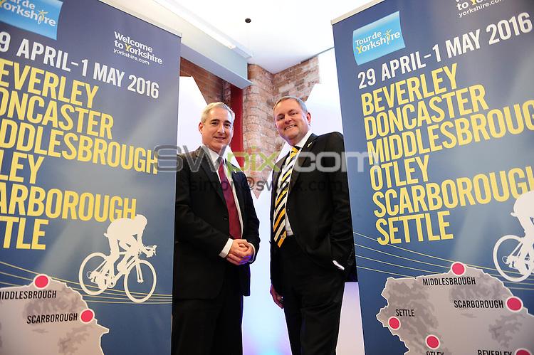 Picture by Simon Wilknson/SWpix.com 09/10/2015 - Cycling Tour de Yorkshire - 2016 host town city locations -<br /> Greg Mulholland<br /> copyright picture- Simon Wilkinson - simon@swpix.com