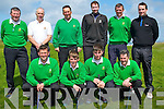 Tralee Golf team who played Castlegregory Golf Club in the Jimmy Bruen Sheild at Tralee Golf Club on Sunday. Alan Kelly, Rory Hill, Jason Daly, Cluade O'Connor. Back Gene Kelly (Capt/Team Manager), Mike O'halloran, Ger Hussey, Dave Sheehy,Kevin Lucid and Mike Sheehy.