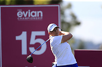 Angela Stanford (USA) tees off the 15th tee during Friday's Round 2 of The Evian Championship 2018, held at the Evian Resort Golf Club, Evian-les-Bains, France. 14th September 2018.<br /> Picture: Eoin Clarke | Golffile<br /> <br /> <br /> All photos usage must carry mandatory copyright credit (&copy; Golffile | Eoin Clarke)