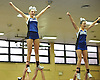 Mackenzie Gagliano, left, and Amanda Budke of Centereach perform during an eight-team varsity cheerleading competition held at Bethpage High School on Sunday, Jan. 22, 2017.