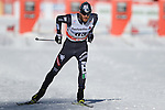 Sebastiano Pellegrin in action at the sprint qualification of the FIS Cross Country Ski World Cup  in Dobbiaco, Toblach, on January 14, 2017. Credit: Pierre Teyssot