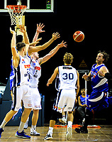 Action from the national basketball league match between Wellington Saints and Nelson Giants at TSB Bank Arena in Wellington, New Zealand on Tuesday, 25 April 2017. Photo: Dave Lintott / lintottphoto.co.nz