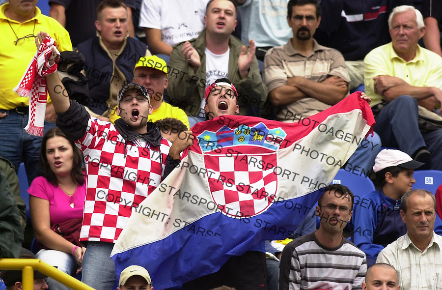 SPORT FUDBAL ZAPRESIC CRVENA ZVEZDA UEFA CUP navijaci 11.08.2005. foto: Pedja Milosavljevic<br />