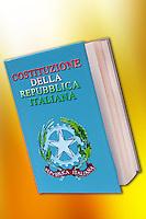 La costituzione italiana.Italian constitution.