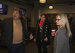 Chi Chi Bengochea, Naomi Duerr and Reno Mayor Hillary Schieve tour the fitness area during the 3rd Street Flats Grand Opening in downtown Reno on Jan. 24, 2017.