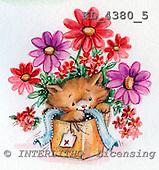 Interlitho, CUTE ANIMALS, paintings, KL4380/5,#ac# stickers illustrations, pinturas ,everyday