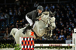 Roger-Yves Bost of France riding on Pegase du Murier competes during the EEM Trophy, part of the Longines Masters of Hong Kong on 10 February 2017 at the Asia World Expo in Hong Kong, China. Photo by Marcio Rodrigo Machado / Power Sport Images
