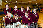Pictured at the Tralee Credit Union Schools Quiz Brandon hotel on Sunday were Brayden Pierce, Eliza Jane Browne, Ronin Mc Cannon, MJ McCarthy, Josh Quilter, Ben Hanafin, Cillian Lynch and Sabhadh McMahon from Holy Family, Balloonagh