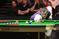 Mark Allen breaks during the Dafabet Masters Quarter Final 1 match between Mark Allen and Barry Hawkins at Alexandra Palace, London, England on 14 January 2016. Photo by Liam Smith / PRiME Media Images