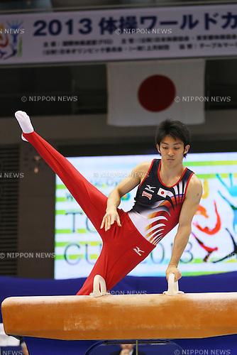 Kazuhito Tanaka (JPN), .April 6, 2013 - Artistic Gymnastics : .FIG Artistic Gymnastics World Cup, Tokyo Cup 2013 .Men's Individual All-round 1st Day .at Komazawa Gymnasium, Tokyo, Japan. .(Photo by Daiju Kitamura/AFLO SPORT) [1045]
