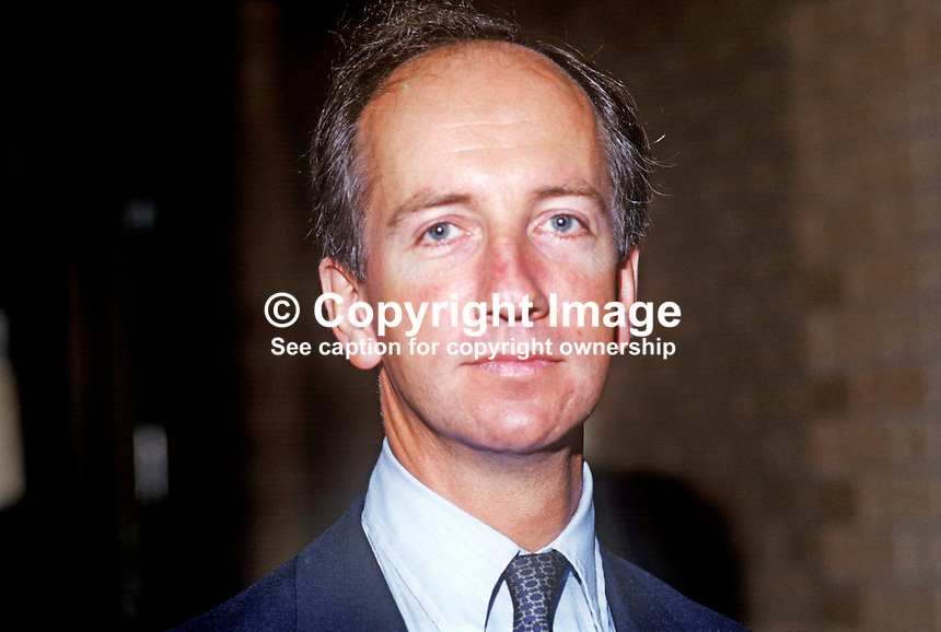 Tim Smith, MP, Conservative Party, Beaconsfield, UK, pictured annual conference, 19861002TS<br /> <br /> Copyright Image from Victor Patterson, 54 Dorchester Park, Belfast, UK, BT9 6RJ<br /> <br /> t1: +44 28 9066 1296 (from Rep of Ireland 048 9066 1296)<br /> t2: +44 28 9002 2446 (from Rep of Ireland 048 9002 2446)<br /> m: +44 7802 353836<br /> <br /> e1: victorpatterson@me.com<br /> e2: victorpatterson@gmail.com<br /> <br /> The use of my copyright images is subject to my Terms &amp; Conditions.<br /> <br /> It is IMPORTANT that you familiarise yourself with them. They are available on my website at www.victorpatterson.com.<br /> <br /> None of my copyright images may be used on a website unless they are visibly watermarked, i.e. &copy; Victor Patterson within the body of the visible image. Metadata denoting my copyright must NOT be deleted. <br /> <br /> Web use is extra at currently recommended NUJ rates.