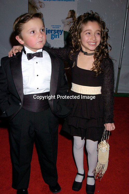 "Paulie Litt and Raquel Castro ..at The New York Premiere of "" Jersey Girl"" on March 9, 2004 at the Ziegfeld Theatre. Photo by Robin Platzer, Twin Images"